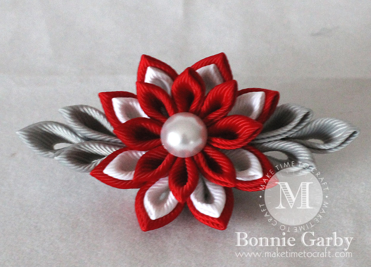 DIY Kanzashi Ribbon Flower LAYERED Petal #1 Video Tutorial