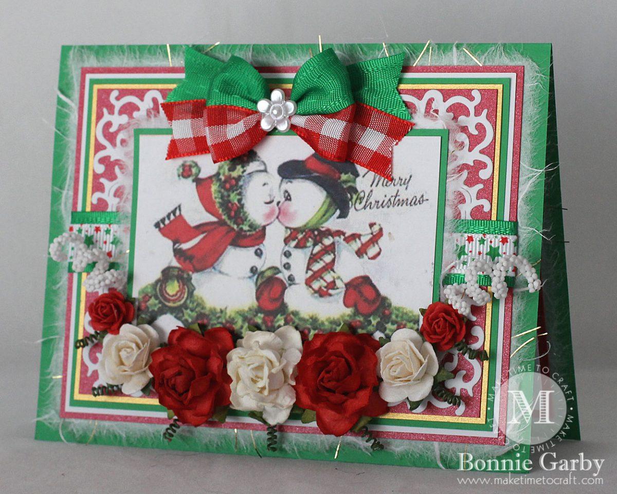 Fun Smooching Snowman Holiday Greeting Card