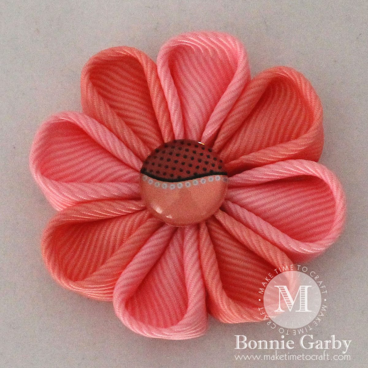 DIY Kanzashi Ribbon Flower Petal #2 Video Tutorial