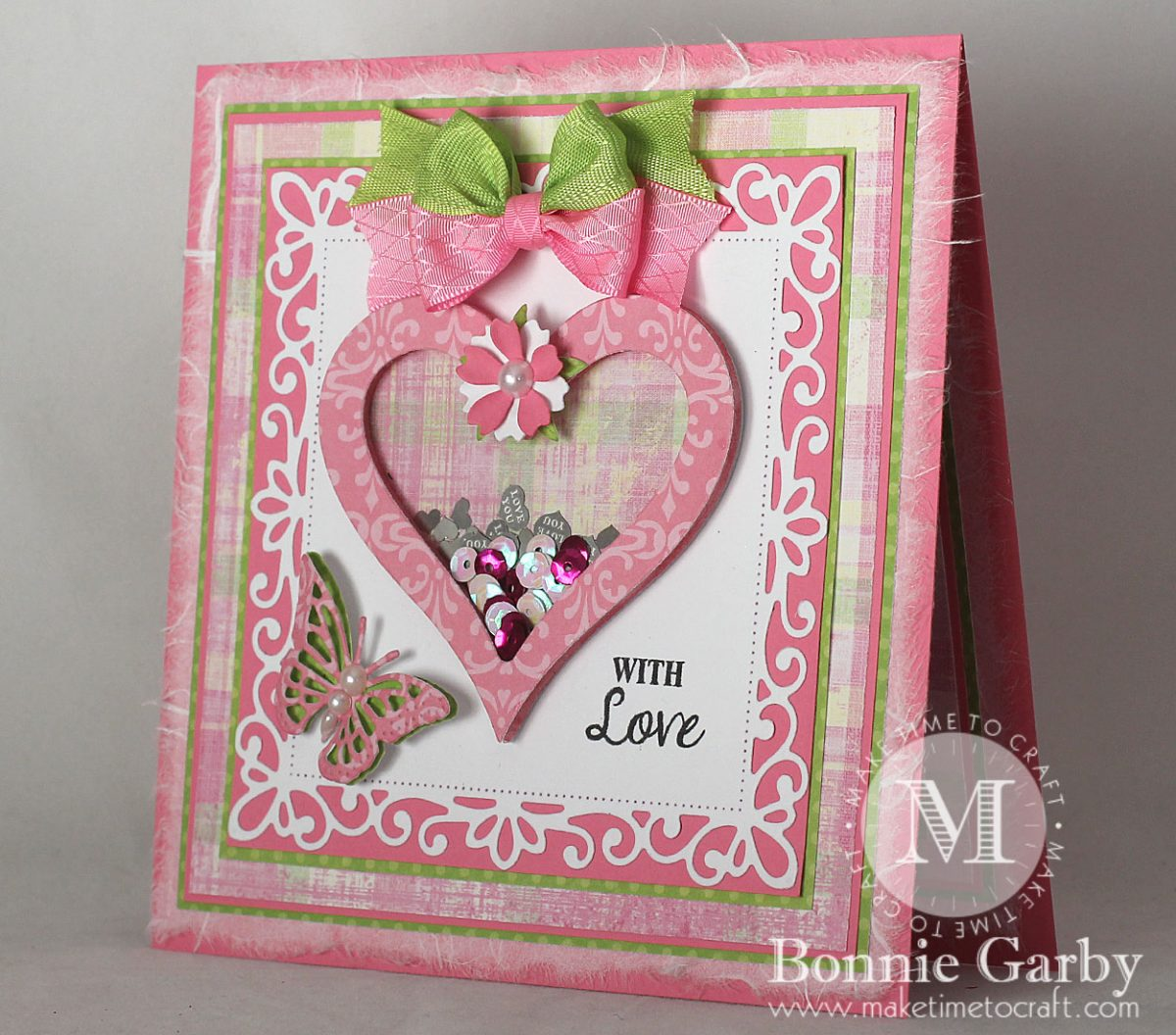 New Hearts Themed Challenge on the Really Reasonable Ribbon Blog