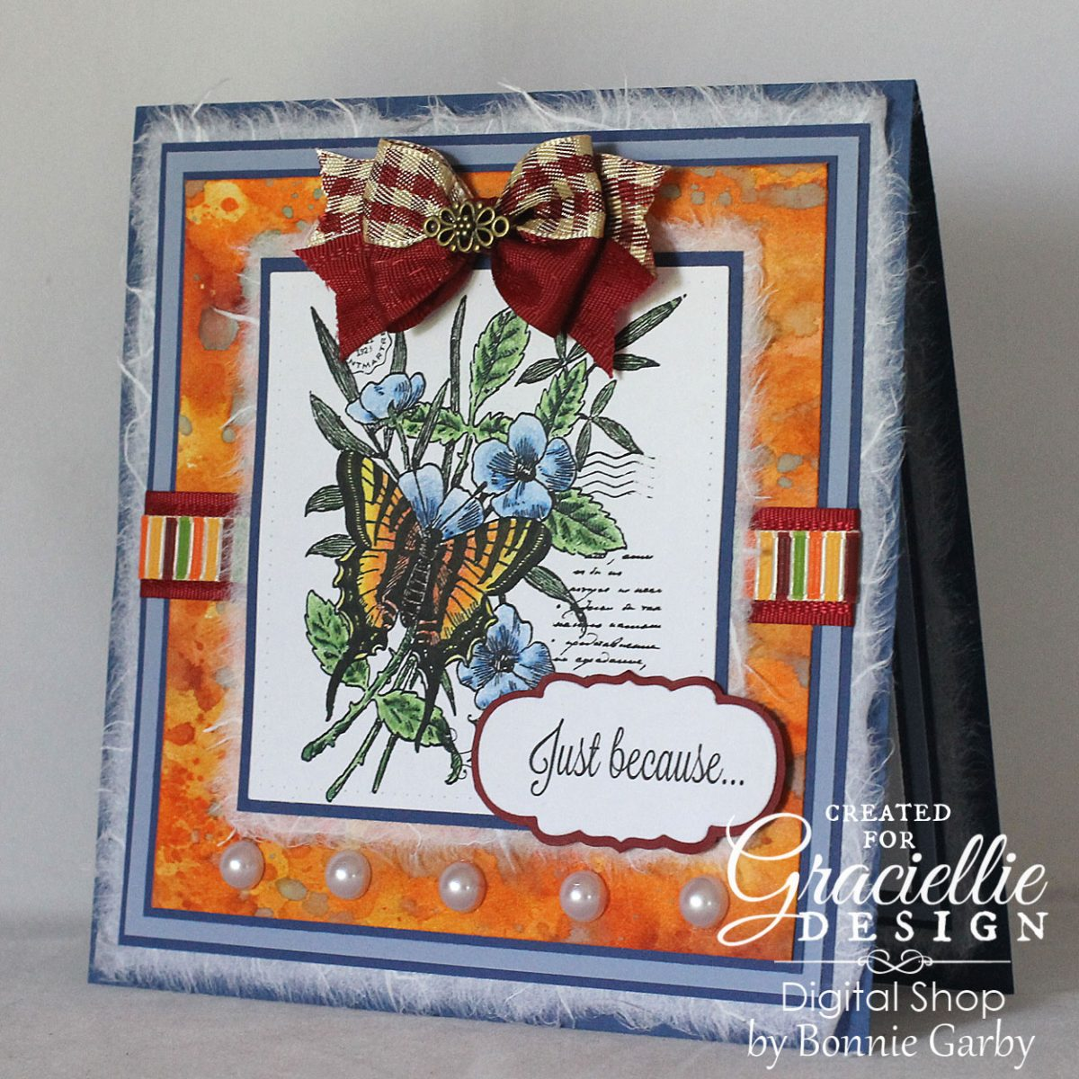 Just Because Card and Stamp Bundle SALE at Graciellie Design