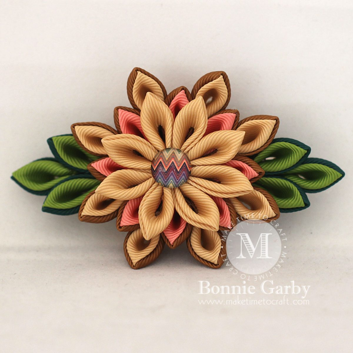 DIY Kanzashi Ribbon Flower Tutorial – Layered Petal Variation