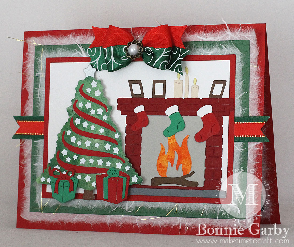 The Stocking Were Hung by the Chimney with Care Card