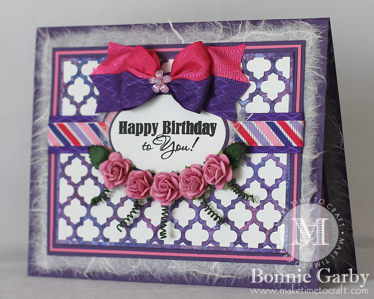 Pretty Floral Birthday Card