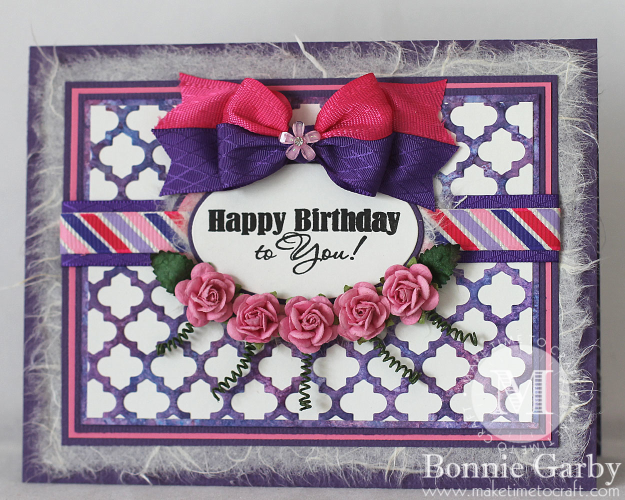 Pretty Floral Birthday Card Make Time To Craft