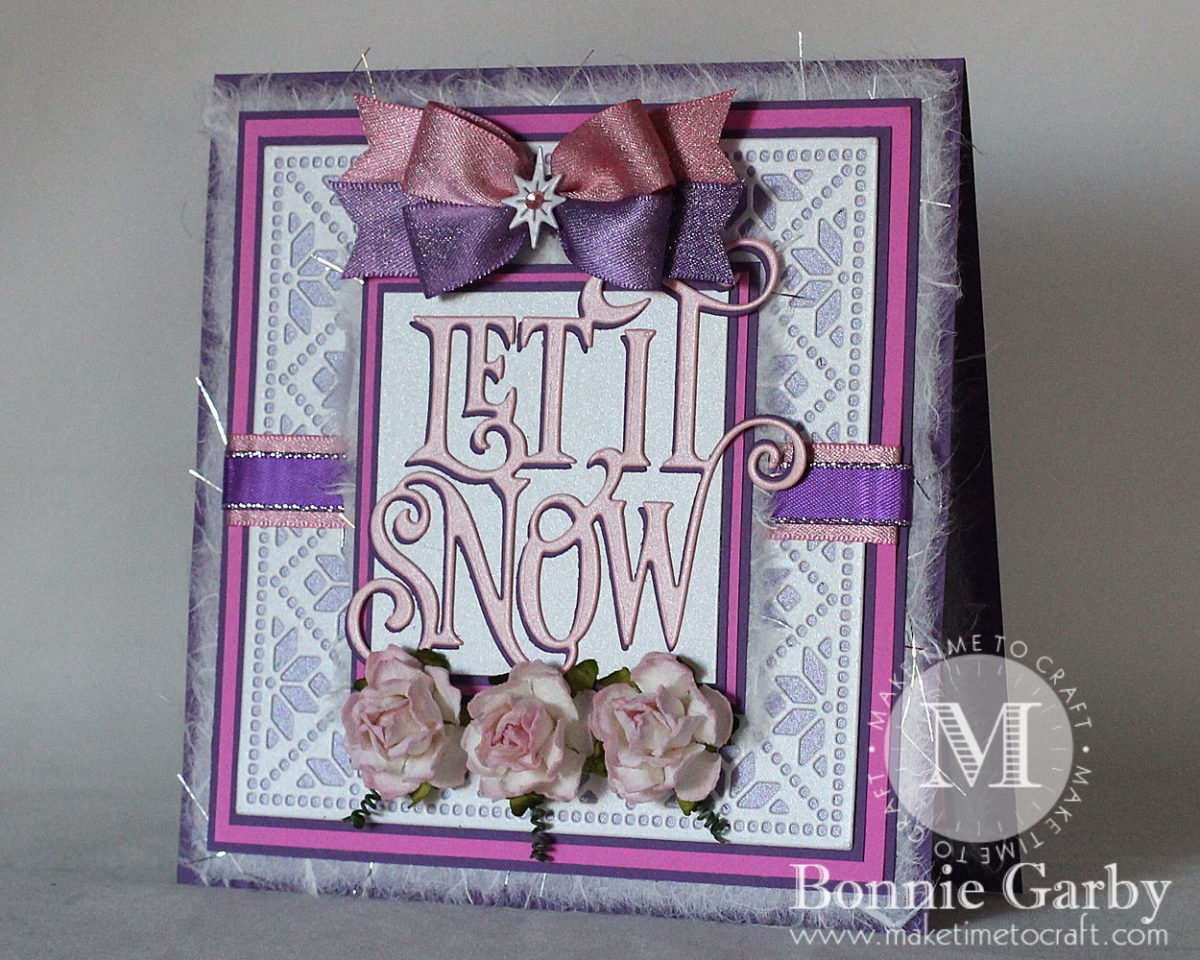 Winter themed card with ribbon