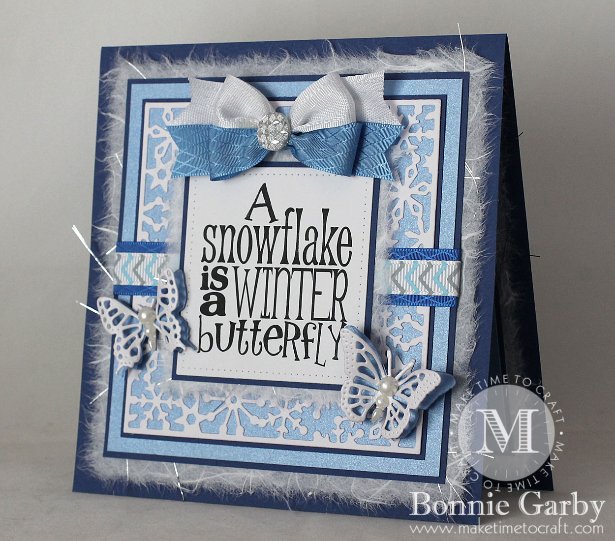 Handmade Card with Ribbon