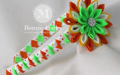 Woven Ribbon Headbands and Ribbon Kanzashi Flowers and Tutorials