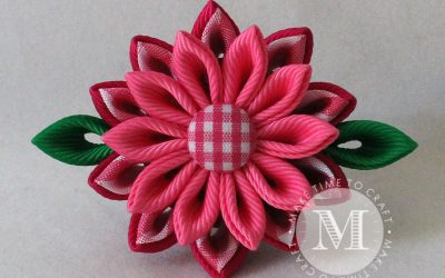 Pretty Pink Kanzashi Flower Creation