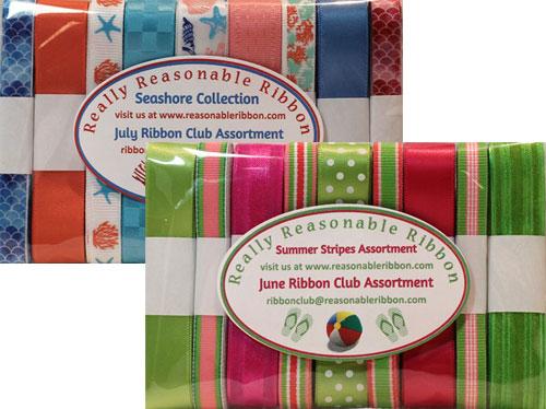 Really Reasonable Ribbon June and July Ribbon Club Assortments