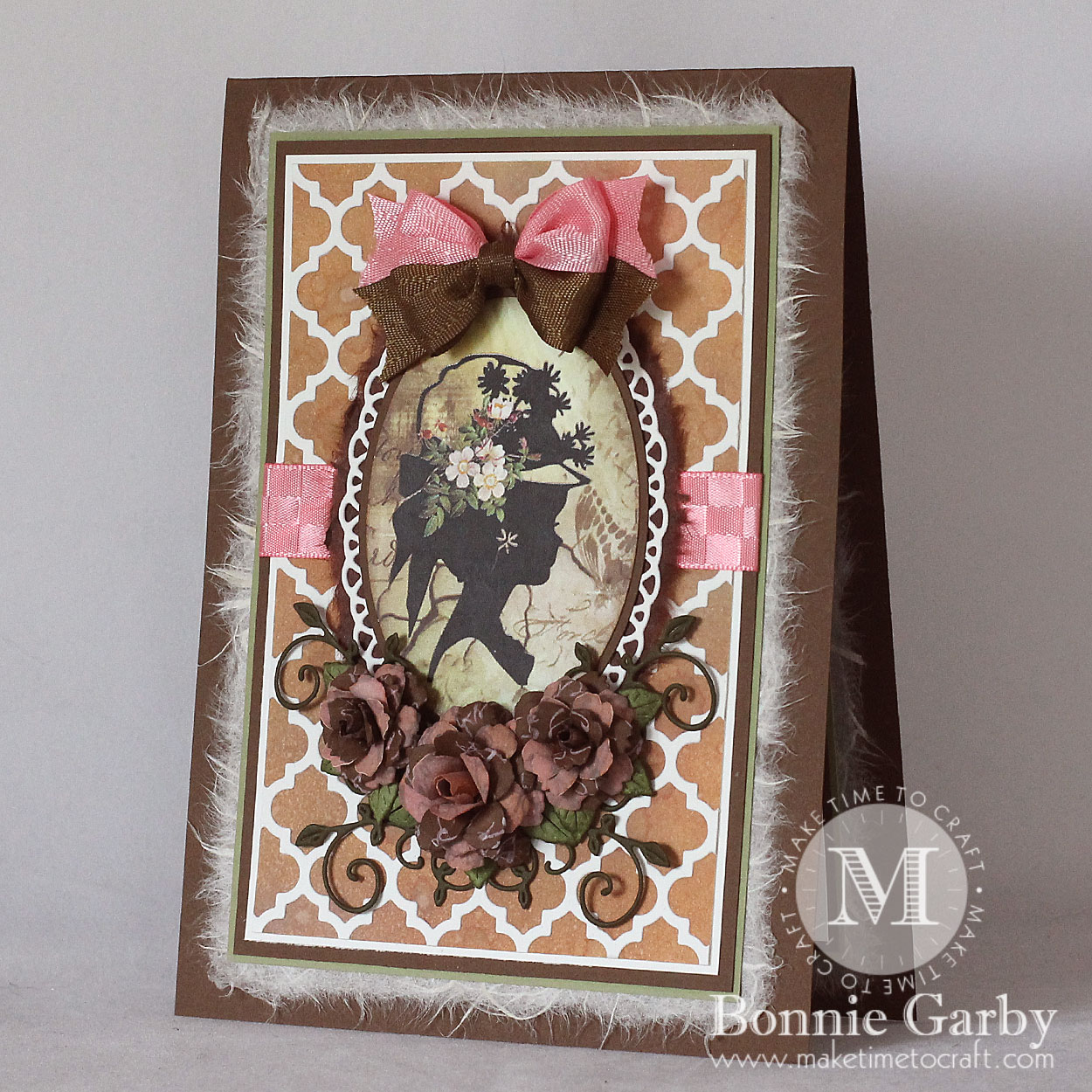 Vintage Silhouette Note Card