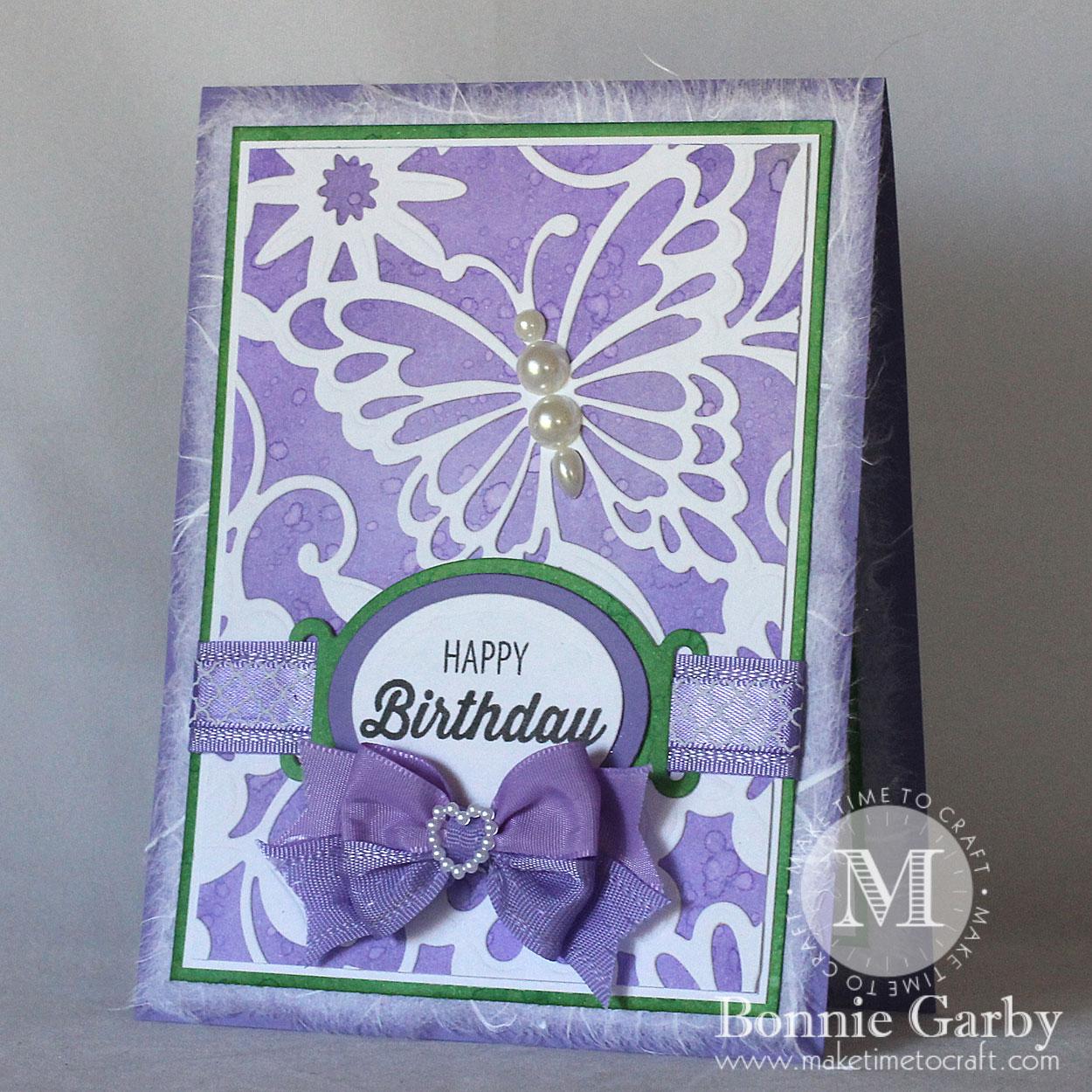 Happy Birthday Card in Purple