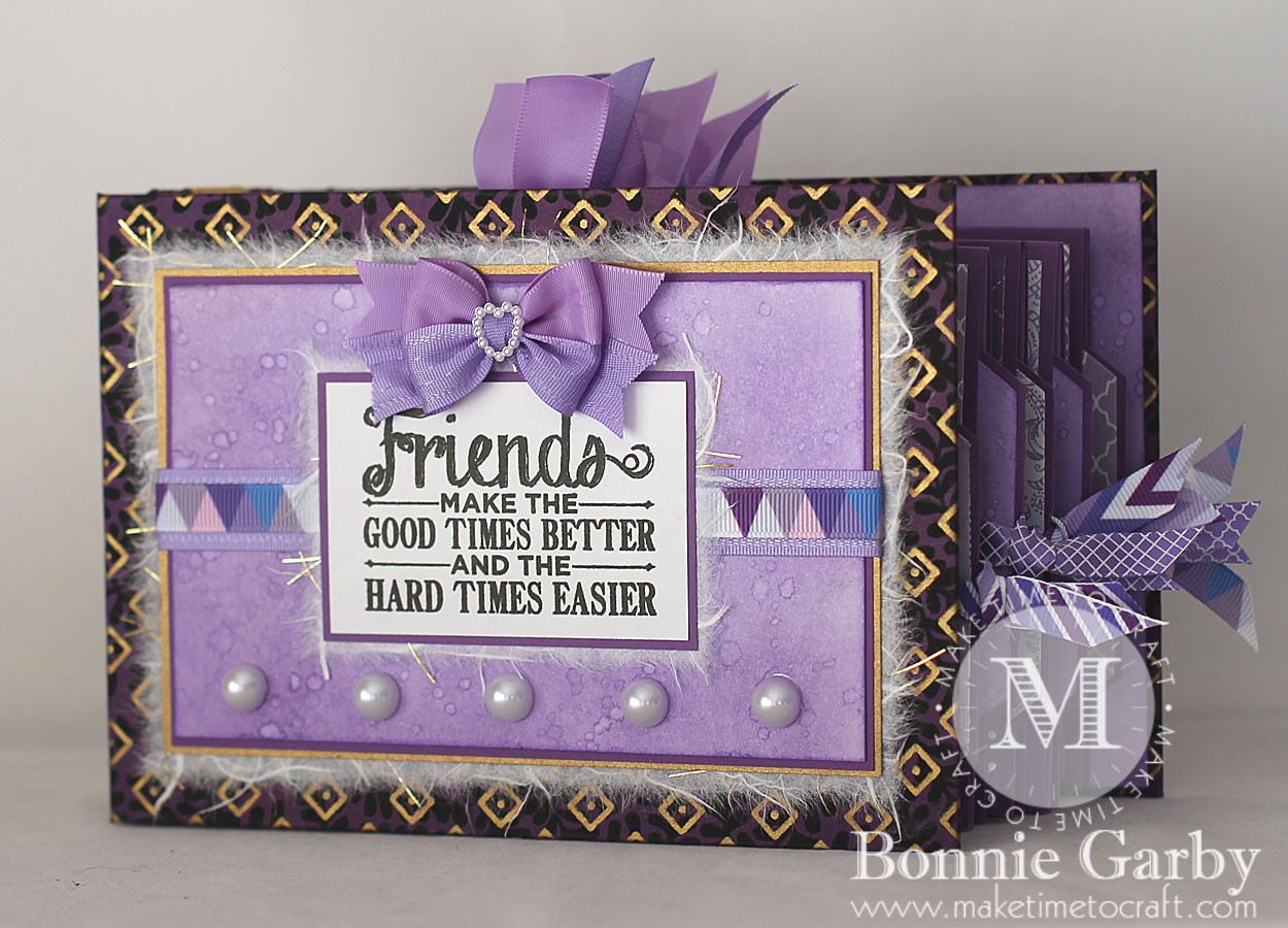 Friends Mini Album created with the RRR July Ribbon Club Assortment