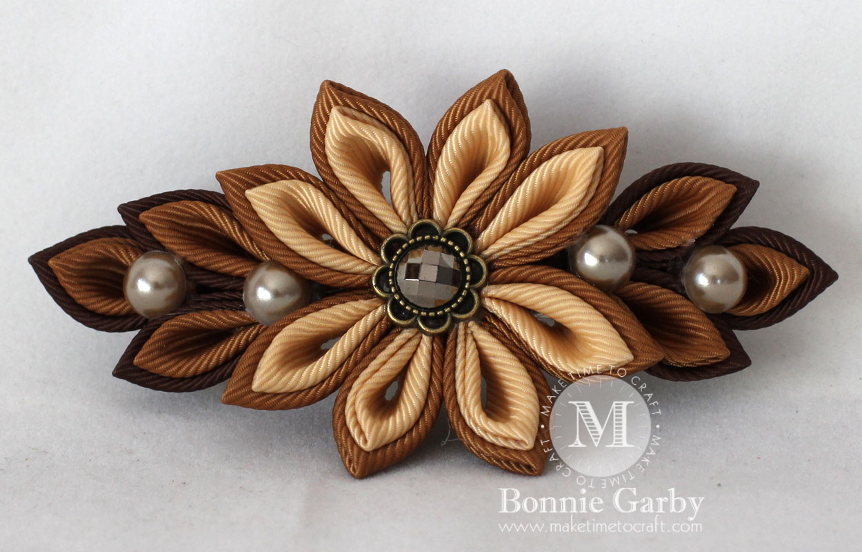Autumn Color Kanzashi Hair Clip