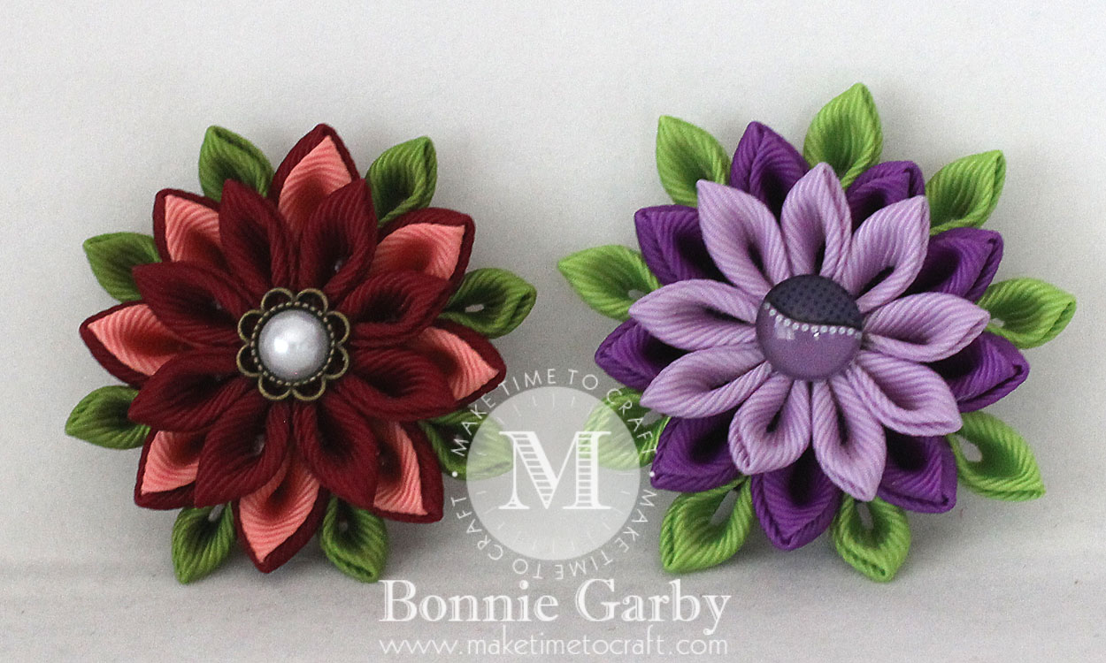 Kanzashi Flower Inspiration with Video Tutorials