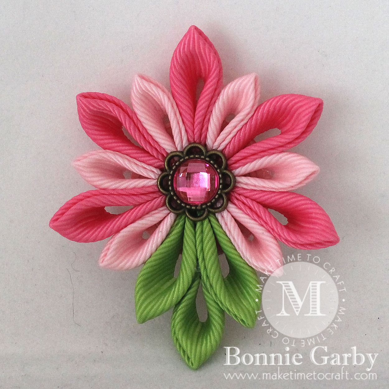 Pretty Kanzashi Ribbon Flower Project