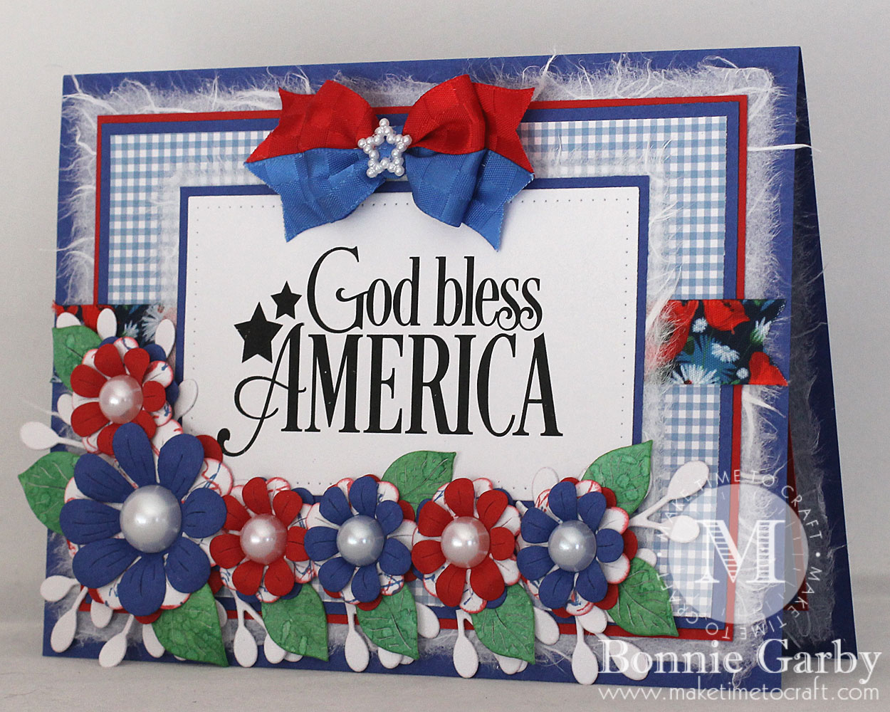 Patriotic Floral Note Card