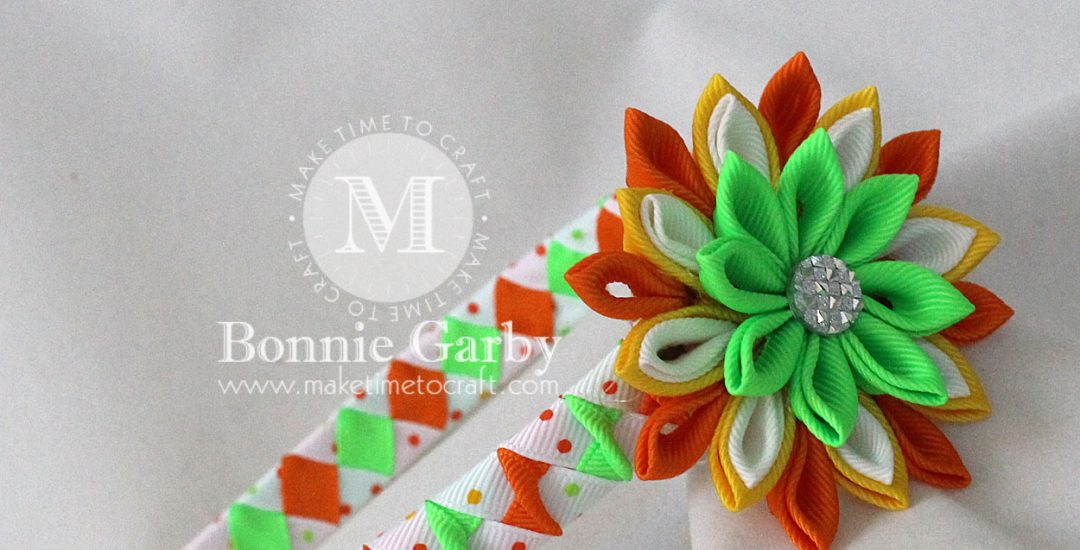 Woven Ribbon Headbands and Ribbon Kanzashi Flowers and Tutorials