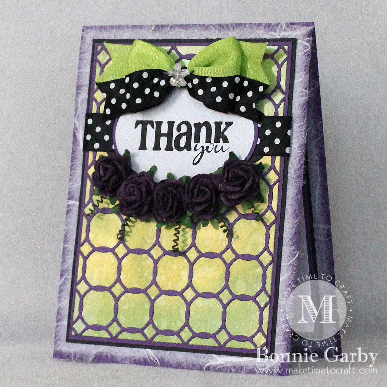 Handmade card featuring ribbon from Really Reasonable Ribbon