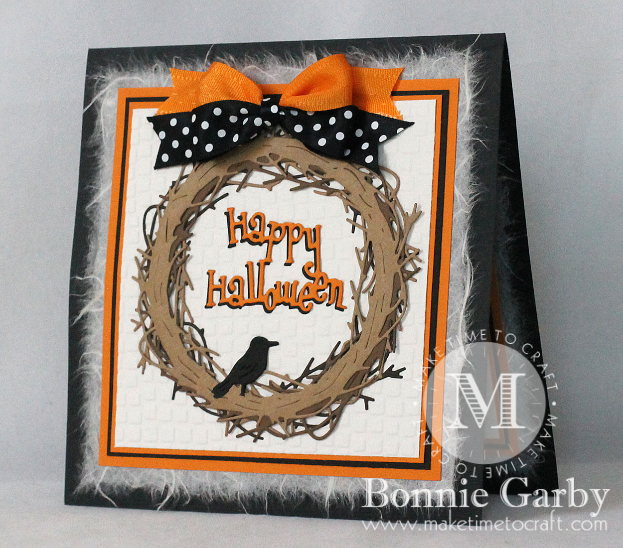 Halloween Card with Ribbon
