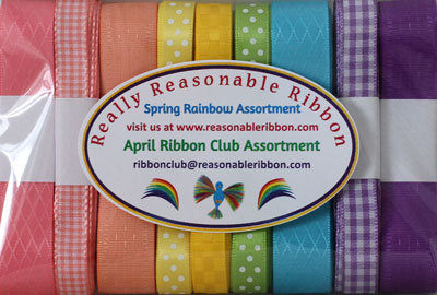 Really Reasonable Ribbon April 2020 Ribbon Club Assortment