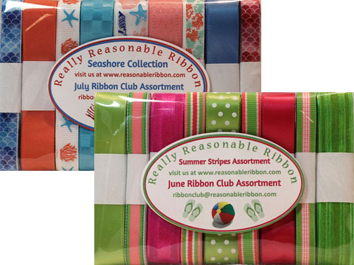 Really Reasonable Ribbon June and July Ribbon Club Assortments