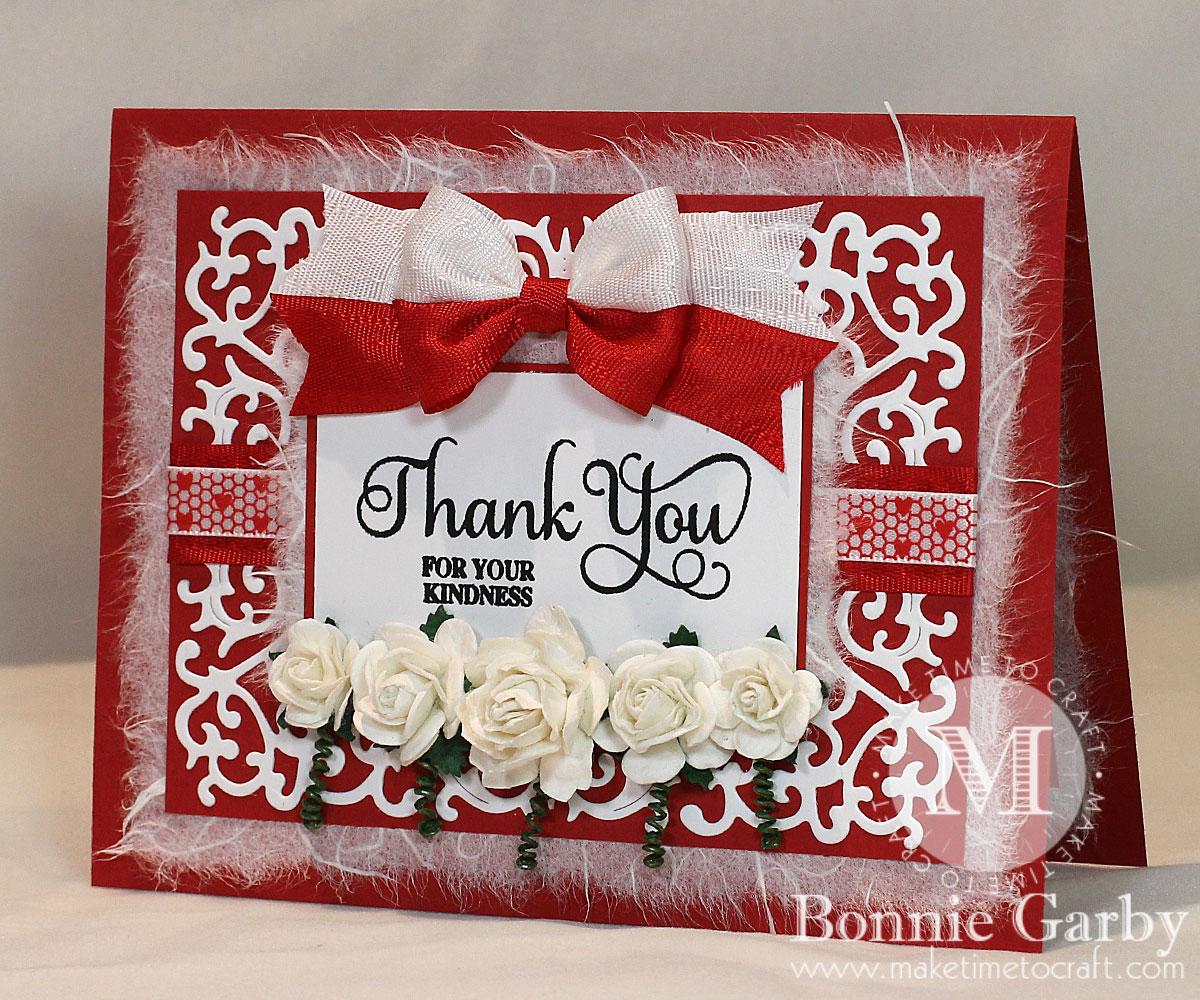Handmade Valentine Card with Ribbon