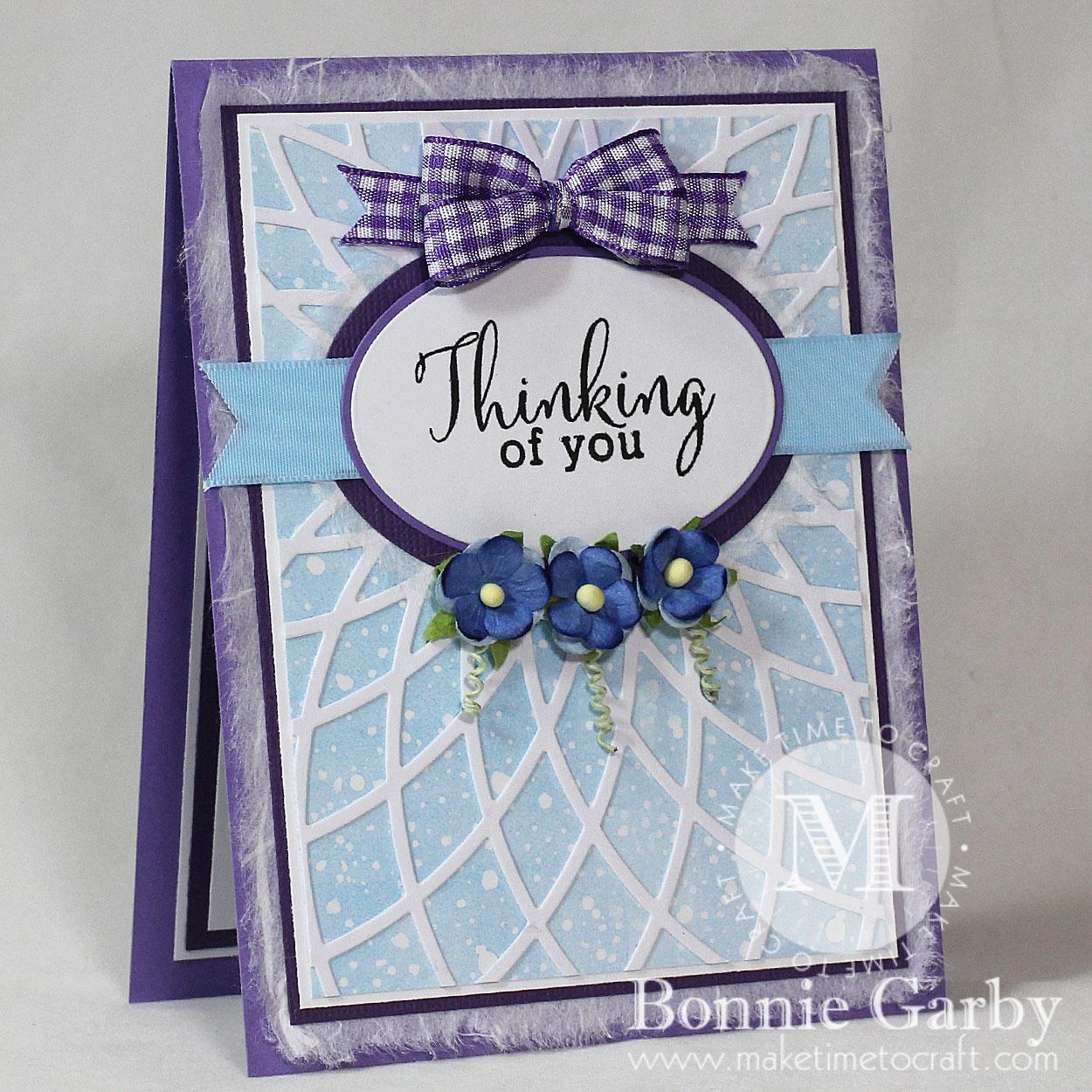 Handmade Greeting Card with Ribbon