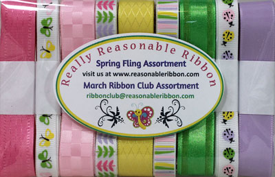 March 2021 Ribbon Club Assortment from Really Reasonable Ribbon