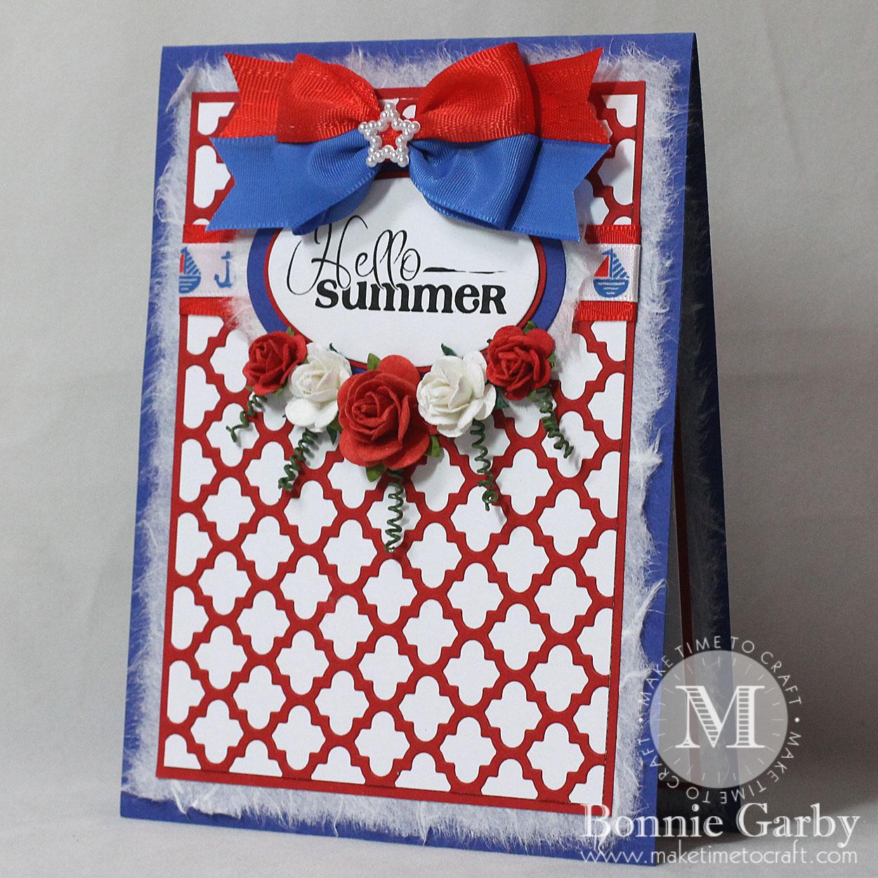 Handmade Card with Ribbon