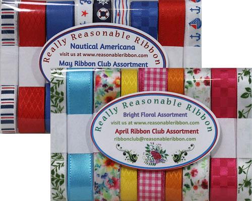 April and May 2021 Ribbon Club Assortment from Really Reasonable Ribbon
