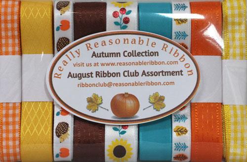Really Reasonable Ribbon August Ribbon Club Assortment